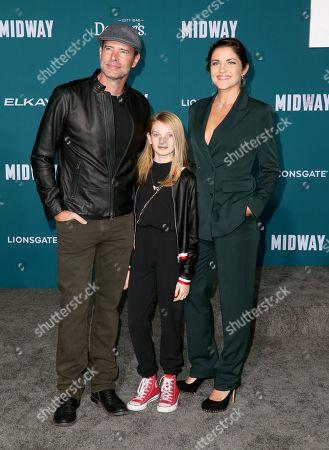 Stock Image of Scott Foley, Malina Jean Foley and Marika Dominczyk