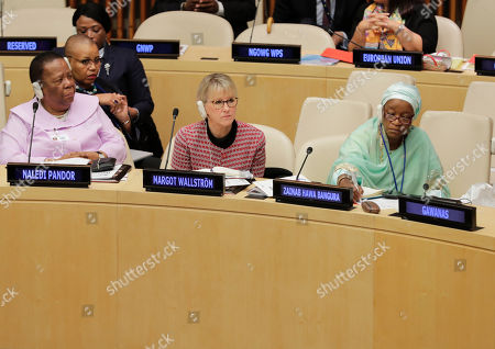Editorial picture of United Nations Press Conference on Sexual Violence in Conflict, New York, USA - 30 Oct 2019