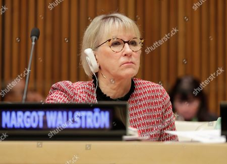 Stock Photo of Margot Wallstrom during the commemoration of 10th Year Anniversary of Mandate on Sexual Violence in Conflict today at the UN Headquarters in New York