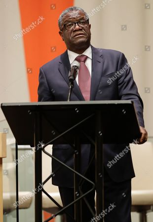Denis Mukwege during the commemoration of 10th Year Anniversary of Mandate on Sexual Violence in Conflict today at the UN Headquarters in New York