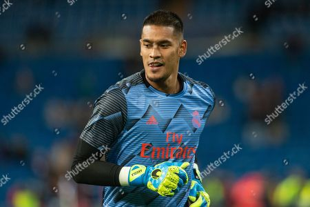 Alphonse Areola of Real Madrid during the UEFA Champions League match between Real Madrid and Galatasaray AS played at the Santiago Bernabeu Stadium in Madrid, on November 6th 2019