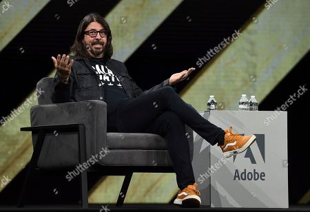 Dave Grohl, Musician and Director, recalls his time with Nirvana at Adobe MAX on in Los Angeles