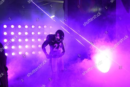 Baltimore Ravens cornerback Jimmy Smith (22) waits to enter the field before an NFL football game against the New England Patriots, in Baltimore