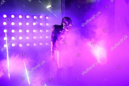 Baltimore Ravens cornerback Jimmy Smith waits to be introduced onto the field prior to an NFL football game against the New England Patriots, in Baltimore