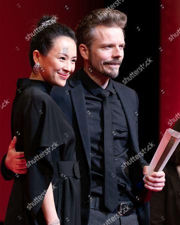Zhang Ziyi, director Frelle Petersen Tokyo Grand Prix film ' Uncle'