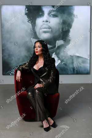 Apollonia Kotero poses for a portrait at Warner Music Group on in Los Angeles