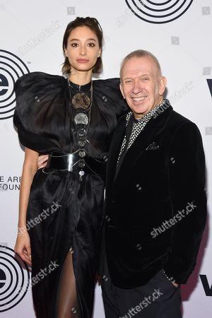 Alexandra Agoston and Jean Paul Gaultier