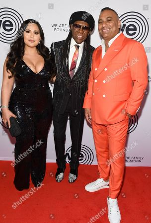 Jennifer Andrade, Nile Rodgers and Russell Peters