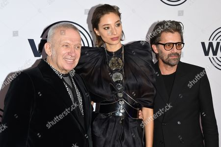 Jean Paul Gaultier, Alexandra Agoston and Chris Colls
