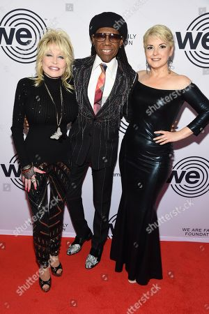 Dolly Parton, Nile Rodgers and Nancy Hunt
