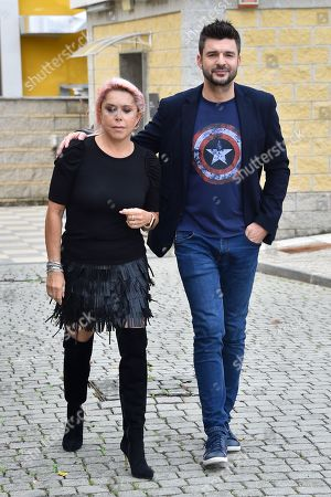 Stock Photo of Anna Pettinelli and Stefano Macchi