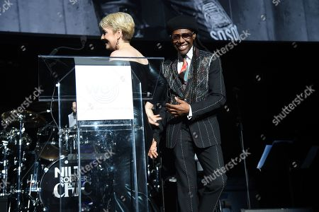 Nancy Hunt and Nile Rodgers