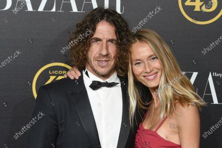 Carles Puyol and Vanesa Lorenzo