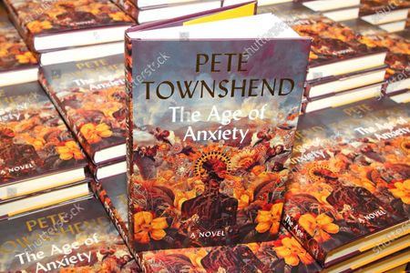 Pete Townshend new novel, The Age of Anxiety, book is being displayed at Waterstones Piccadilly