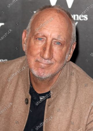 Pete Townshend, guitarist of the legendary British rock band The Who, attends his new novel, The Age of Anxiety, book signing at Waterstones Piccadilly