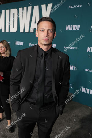 Stock Image of James Carpinello attends the Lionsgate's MIDWAY World Premiere at the Regency Village Theatre in Los Angeles, CA on November 5, 2019.