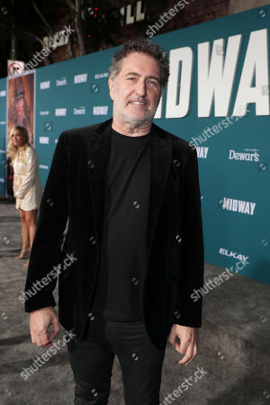 Harald Kloser, Composer, attends the Lionsgate's MIDWAY World Premiere at the Regency Village Theatre in Los Angeles, CA on November 5, 2019.