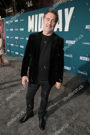 Stock Image of Harald Kloser, Composer, attends the Lionsgate's MIDWAY World Premiere at the Regency Village Theatre in Los Angeles, CA on November 5, 2019.