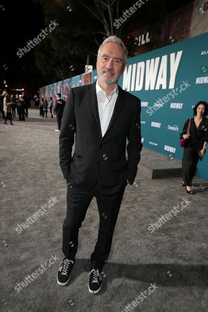 Roland Emmerich, Director/Producer, attends the Lionsgate's MIDWAY World Premiere at the Regency Village Theatre in Los Angeles, CA on November 5, 2019.