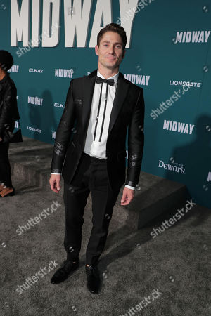 Matthew MacCaull attends the Lionsgate's MIDWAY World Premiere at the Regency Village Theatre in Los Angeles, CA on November 5, 2019.