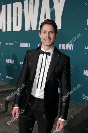 Stock Image of Matthew MacCaull attends the Lionsgate's MIDWAY World Premiere at the Regency Village Theatre in Los Angeles, CA on November 5, 2019.