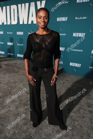 Adina Porter attends the Lionsgate's MIDWAY World Premiere at the Regency Village Theatre in Los Angeles, CA on November 5, 2019.