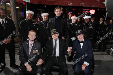 Jack Holder, Truxton ÒT.K.Ó Ford, Luke Kleintank and Hank Kudzik attend the Lionsgate's MIDWAY World Premiere at the Regency Village Theatre in Los Angeles, CA on November 5, 2019.