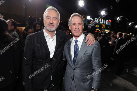 Roland Emmerich, Director/Producer, and Jon Feltheimer, Lionsgate Chief Executive Officer, attend the Lionsgate's MIDWAY World Premiere at the Regency Village Theatre in Los Angeles, CA on November 5, 2019.