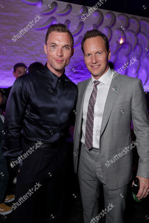 Ed Skrein and Patrick Wilson attend the Lionsgate's MIDWAY World Premiere at the Regency Village Theatre in Los Angeles, CA on November 5, 2019.