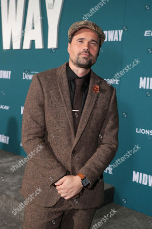 Brett Dalton attends the Lionsgate's MIDWAY World Premiere at the Regency Village Theatre in Los Angeles, CA on November 5, 2019.