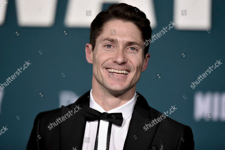 """Matthew MacCaull attends the world premiere of """"Midway"""" at the Regency Village Theatre, in Los Angeles"""