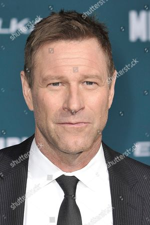 """Stock Picture of Aaron Eckhart attends the world premiere of """"Midway"""" at the Regency Village Theatre, in Los Angeles"""