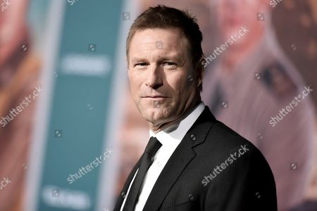 """Aaron Eckhart attends the world premiere of """"Midway"""" at the Regency Village Theatre, in Los Angeles"""
