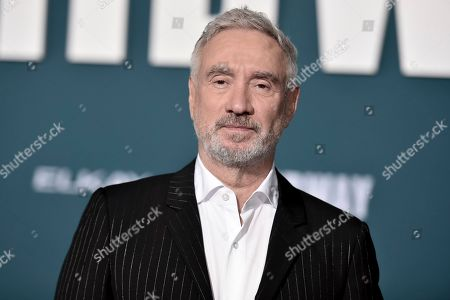 """Stock Image of Roland Emmerich attends the world premiere of """"Midway"""" at the Regency Village Theatre, in Los Angeles"""