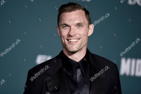 """Ed Skrein attends the world premiere of """"Midway"""" at the Regency Village Theatre, in Los Angeles"""