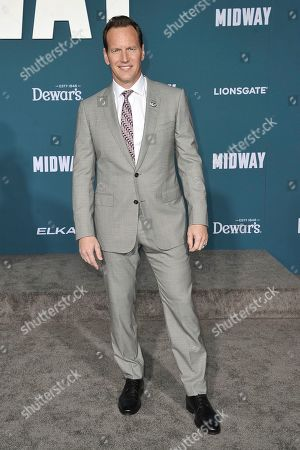 """Patrick Wilson attends the world premiere of """"Midway,"""" at the Regency Village Theatre, in Los Angeles"""