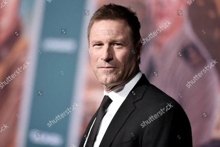 """Aaron Eckhart attends the world premiere of """"Midway,"""" at the Regency Village Theatre, in Los Angeles"""