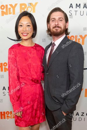"Stock Photo of Anita Gou, Christopher Leggett. Anita Gou, left, and Christopher Leggett arrive at the LA Premiere of ""Honey Boy"" at the ArcLight Hollywood, in Los Angeles"