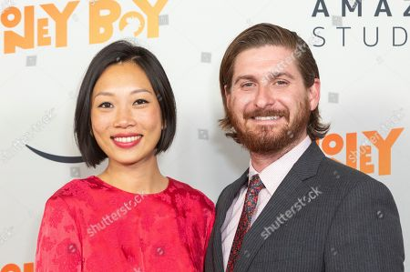 """Stock Photo of Anita Gou, Christopher Leggett. Anita Gou, left, and Christopher Leggett arrive at the LA Premiere of """"Honey Boy"""" at the ArcLight Hollywood, in Los Angeles"""