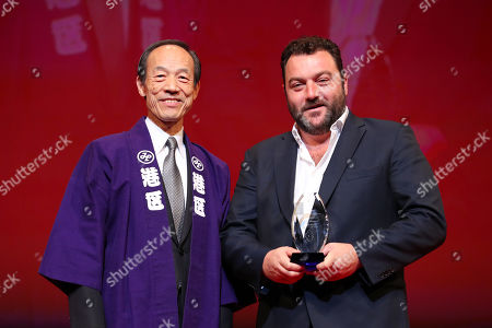 Stock Picture of Denis Menochet - Denis Menochets after winning 'Audience Award' for the film 'Only the Animals'