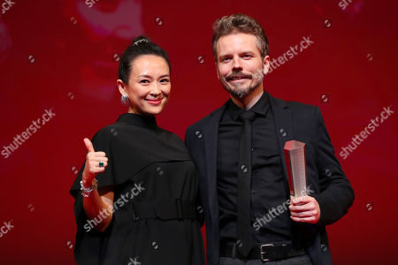 Zhang Ziyi, Frelle Petersen - Frelle Petersen, after winning 'Tokyo Grand Prix The Governor of Tokyo Award' for the film 'Uncle [Onkel]'