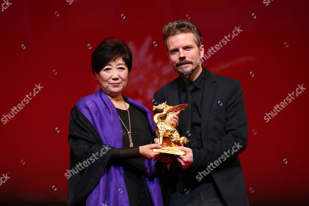 Yuriko Koike, Frelle Petersen - Frelle Petersen, after winning 'Tokyo Grand Prix The Governor of Tokyo Award' for the film 'Uncle [Onkel]'