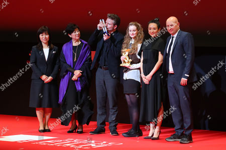 Yuriko Koike, Frelle Petersen, Zhang Ziyi - Frelle Petersen, after winning 'Tokyo Grand Prix The Governor of Tokyo Award' for the film 'Uncle [Onkel]'