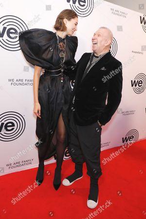 Stock Photo of Alexandra Agoston and Jean Paul Gaultier
