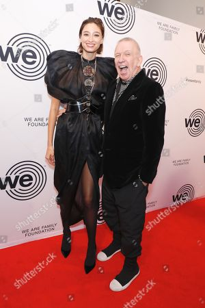 Stock Picture of Alexandra Agoston and Jean Paul Gaultier