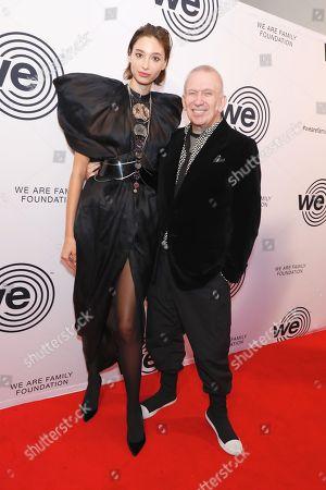 Stock Image of Alexandra Agoston and Jean Paul Gaultier