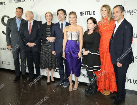Stock Photo of Alan Alda, Noah Baumbach, Scarlett Johansson, Martha Kelly, and Laura Dern