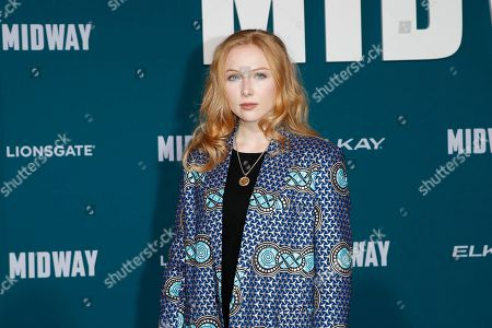 Molly Quinn poses upon arriving at the 'Midway' movie premiere at the Regency Village Theatre in Westwood, Los Angeles, California, USA, 05 November 2019. The movie is to be released in US theaters on 08 November 2019.