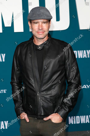 Scott Foley poses upon arriving at the 'Midway' movie premiere at the Regency Village Theatre in Westwood, Los Angeles, California, USA, 05 November 2019. The movie is to be released in US theaters on 08 November 2019.