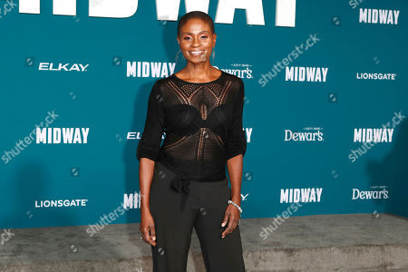 Adina Porter poses upon arriving at the 'Midway' movie premiere at the Regency Village Theatre in Westwood, Los Angeles, California, USA, 05 November 2019. The movie is to be released in US theaters on 08 November 2019.